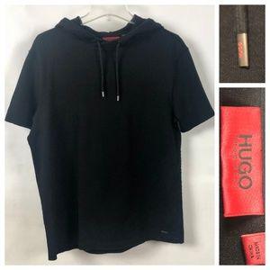 Hugo Boss short sleeve cotton knit hoodie
